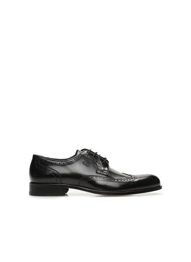 George Hogg 7004743 Delik Desenli Erkek Deri Ayakkabı Siyah